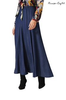 Phase Eight Blue Maeve Maxi Skirt