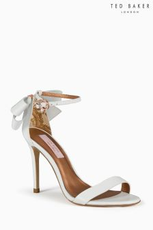 Ted Baker White Leather Bow Sandal