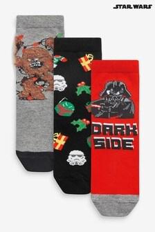 3 Pack Star Wars™ Christmas Socks (Older)
