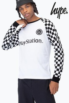 Hype. PlayStation™ Checkerboard Men's Long Sleeve T-Shirt