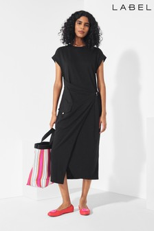 Next/Mix Utility Jersey Wrap Dress