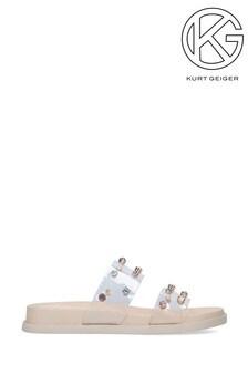 Kurt Geiger Rollo Nude Sandals