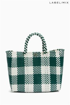 Mix/Zocalo Check Hand Woven Small Bag