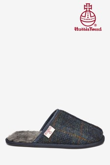 Harris Tweed Mule Slippers