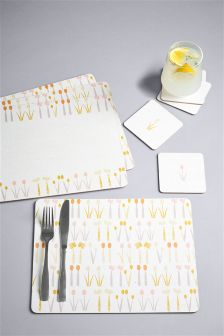 Set of 4 Placemats And Coasters