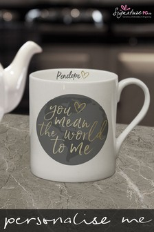 Personalised You Mean The World To Me Mug by Signature PG