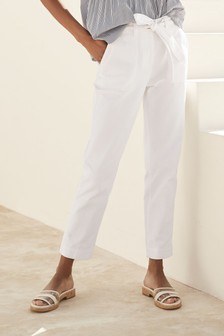 Cropped Utility Tapered Jeans