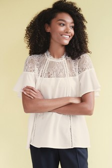 Lace Trim Occasion T-Shirt