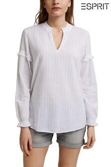 Esprit White Long Sleeve Cotton Tunic
