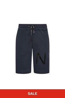N°21 Boys Blue Cotton Shorts