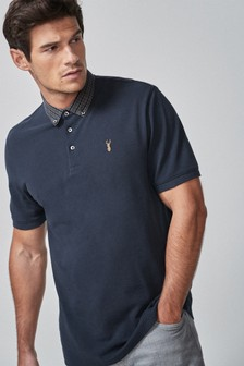Woven Collar Regular Fit Polo