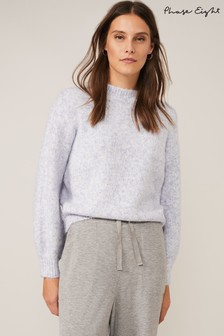 Phase Eight Blue Claudine Bell Sleeve Knit Jumper