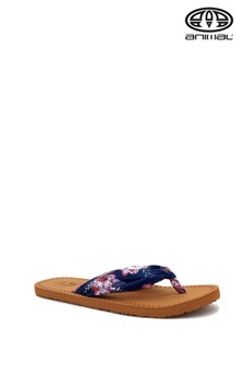 Animal Brown Cilla Flip Flops