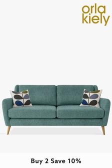Orla Kiely Fern Large Sofa with Oak Feet