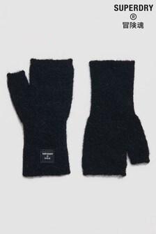 Superdry Black Super Lux Half Gloves