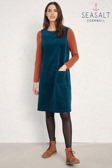 Seasalt Blue Dark Storm Safflower Pinafore Dress