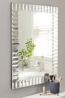 Deco Glass Rectangular Mirror