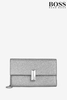 BOSS Silver Nathalie Clutch Bag