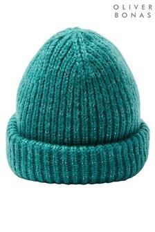 Oliver Bonas Teal Sparkle Super Soft Knitted Hat
