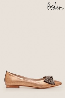 Boden Bronze Adelaide Jewelled Flats
