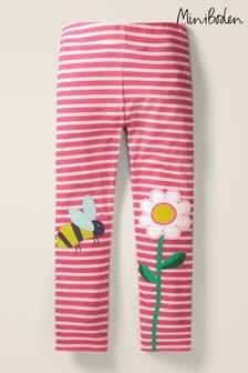 Boden Pink Appliqué Leggings
