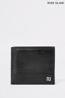 River Island Black Carbon Fibre Wallet