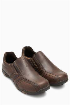 Кожаные туфли без застежек