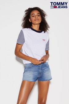 Tommy Jeans Striped Sleeve Raglan T-Shirt