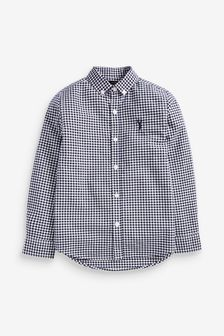 Long Sleeve Gingham Check Oxford Shirt (3-16yrs)