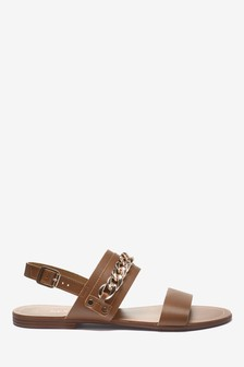Two Band Chain Sandals