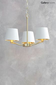 Harry Brushed Gold 3 Pendant Light by Gallery Direct