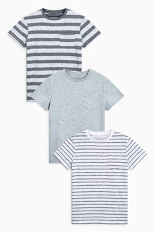Textured T-Shirts Three Pack (3-16yrs)