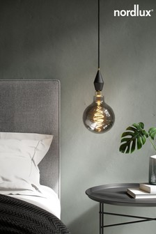 Spiral Deco Globe Smokey Finish 85W E27 Bulb by Nordlux