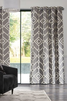 Lattice Geo Eyelet Curtains
