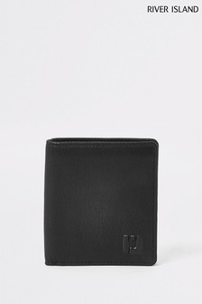 River Island Black 3 Fold Wallet