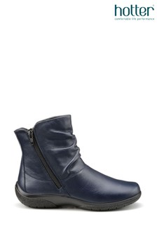 Hotter Blue Whisper Twin Zip Fastening Ankle Boots