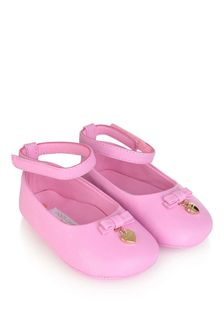 Dolce & Gabbana Kids Baby Girls Pink Leather Shoes