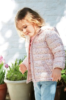 Ditsy Print Shower Resistant Padded Jacket (3mths-7yrs)