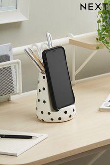 Polka Dot Ceramic Phone Holder