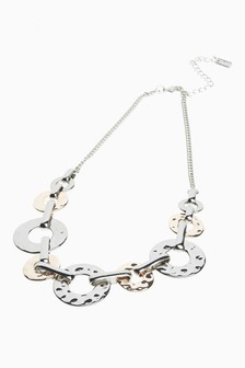 Hammered Links Short Necklace
