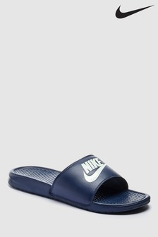Mens Nike Navy Benassi Just Do It. Sandal