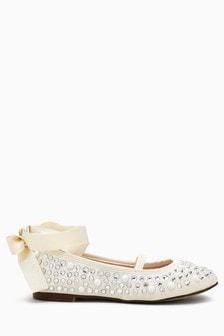 Pearl Effect Ballet Shoes (Older)