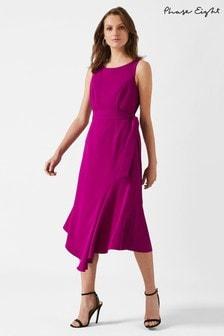 Phase Eight Purple Tamara Asymmetric Dress