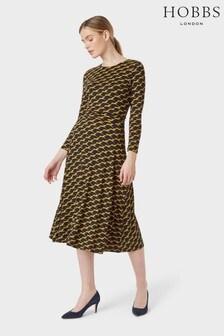Hobbs Blue Bayview Midi Dress