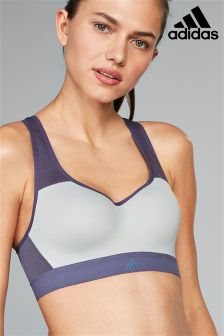 adidas Light Grey Stronger Bra