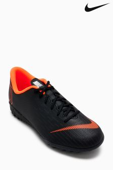 Nike Black/Orange Mercurial Vapor Turf