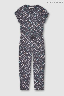 Mint Velvet Grey Willow Star Print Jumpsuit