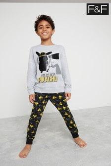 F&F Grey Detective Pikachu Hanging Pyjamas