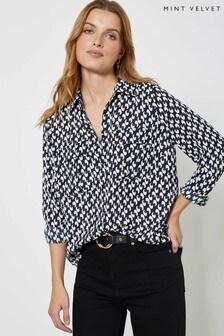 Mint Velvet Fia Geo Print Shirt