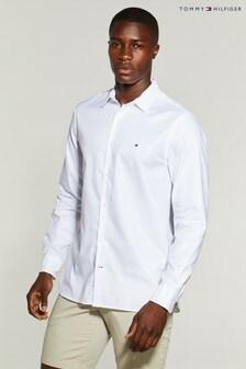 Tommy Hilfiger White Flex Oxford Shirt